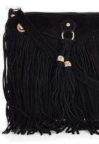 c(inch) - Mini Fringed Cross-Body Bag Black