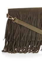 c(inch) - Fringe Cross-Body Bag Khaki Green