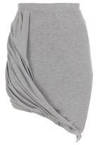 c(inch) - draped midi skirt Mid Grey