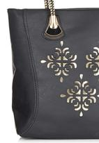 edit - Laser-cut Detail Shopper Black