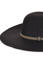 edit - Stud Detail Floppy Hat Black