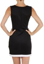 STYLE REPUBLIC - Asymmetrical Bodycon Dress Black and White