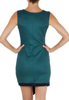 STYLE REPUBLIC - Asymmetrical Bodycon Dress Mid Blue