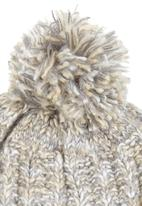c(inch) - Marled Yarn Pom-pom Beanie Grey