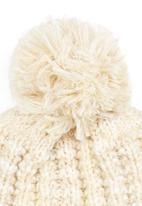c(inch) - Marled Yarn Pom-pom Beanie Cream