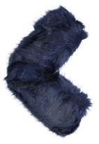 ELIGERE - Faux Fur Capelet Navy