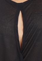 edit - Cross-over Tunic Black
