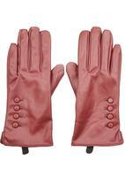 STYLE REPUBLIC - Button Trim Gloves Dark Red