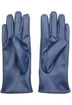 edit - Gloves with Ruched Cuff Navy
