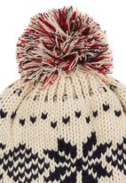 POP CANDY - Snowflake Bobble Beanie Cream