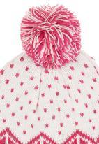 POP CANDY - Pom-pom Snowflake Beanie Mid Pink