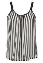 STYLE REPUBLIC - Stripe Camisole Black/White Black and White