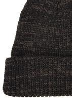 STYLE REPUBLIC - Marled Yarn Beanie Brown/Black