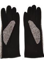 STYLE REPUBLIC - Boucle Colourblock Gloves Black