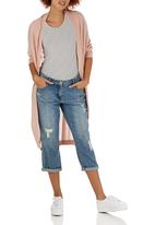 Passionknit - Cocoon Long Edge to Edge Cardi Pale Pink