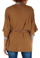 Passionknit - Belted Cape Tan