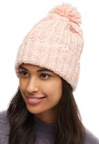c(inch) - Marled Yarn Pom-pom Beanie Mid Pink