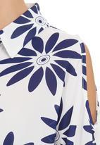 Suzanne Betro - Tie-front Shirt Multi-colour