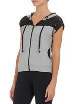 Ketz-ke - Lace Hoodie T-shirt Multi-colour