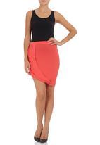 c(inch) - Draped Midi Skirt Coral