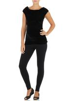 Me-a-mama - Glamour Top Black
