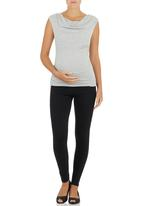 Me-a-mama - Glamour Top Grey