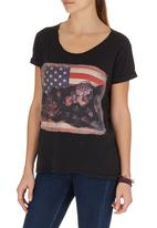 All About Eve - Flower pride tee Black
