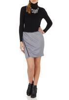 c(inch) - Trim Mini Skirt Mid Grey Mid Grey
