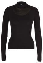 STYLE REPUBLIC - High-neck Inset T-shirt Black
