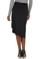 STYLE REPUBLIC - Draped Midi Skirt Black