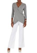 edit - Melange Drape T-shirt Grey Mid Grey