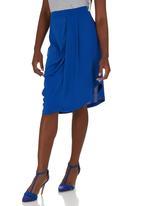 STYLE REPUBLIC - Draped Midi Skirt Cobalt