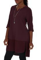 AMANDA LAIRD CHERRY - Lua Tunic Mid Purple Mid Purple