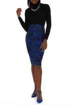 adam&eve; - Floral-print pencil skirt Multi-colour