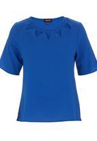 c(inch) - Lazer-cut T-shirt Cobalt