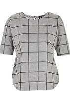 c(inch) - Boxy T-shirt Mid Grey Mid Grey