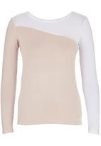 c(inch) - Colourblock T-shirt Neutral