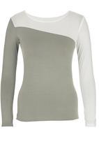 c(inch) - Colourblock t-shirt Stone
