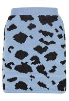 Spree Designer - Pale blue animal knit mini skirt Pale Blue