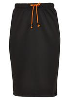 c(inch) - High-waisted Tube Skirt Black