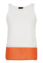 c(inch) - Contrast Tank Orange
