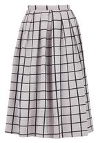 c(inch) - Volume Midi Skirt Grey