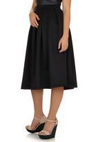 c(inch) - Volume Midi Skirt Black