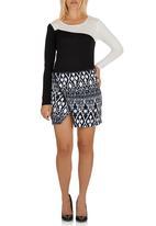 c(inch) - Trim Mini Skirt Navy