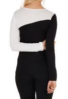 c(inch) - Colourblock T-shirt Black/White