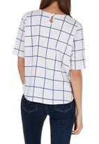 c(inch) - Boxy T-shirt White