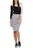 c(inch) - High-waisted Tube Skirt Mid Grey Mid Grey