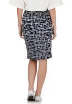 c(inch) - High-waisted Tube Skirt Navy