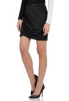 c(inch) - Trim Mini Skirt Black
