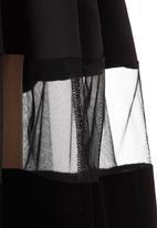 ERRE - Velvet Inset Skirt Black